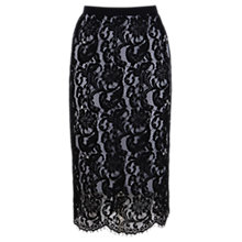 Buy Coast Lulla Lace Skirt, Black Online at johnlewis.com