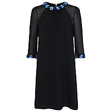 Buy French Connection Jewel Drop Tunic Dress, Black Online at johnlewis.com