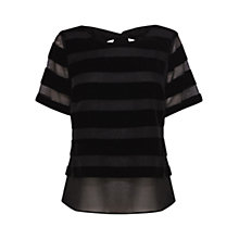 Buy Coast Sesto Velvet Top, Black Online at johnlewis.com