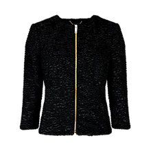 Buy Ted Baker Faux Astrakan Jacket, Black Online at johnlewis.com