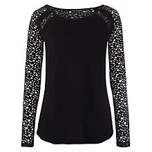 Buy French Connection Winter Auro Top, Black Online at johnlewis.com