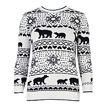 Buy Ted Baker Polar Bear Fairlisle Jumper, White/Blue Online at johnlewis.com