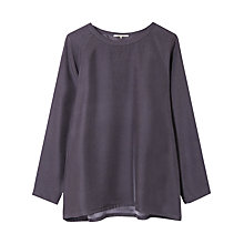 Buy Gerard Darel Shirely Silk Top, Grey Online at johnlewis.com