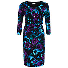 Buy Precis Petite Floral Jersey Dress, Multi Dark Online at johnlewis.com