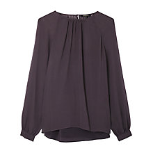 Buy Gerard Darel Shelia Muslin Silk Blouse, Grey Online at johnlewis.com