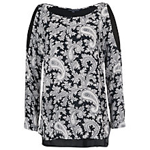 Buy French Connection Paisley Party Top, Black/Multi Online at johnlewis.com