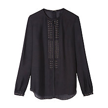 Buy Gerard Darel Sissy Stud Blouse, Black Online at johnlewis.com