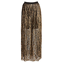 Buy Coast Tarzi Lace Maxi Skirt, Gold Online at johnlewis.com