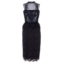 Buy Coast Lina Feather Dress, Navy Online at johnlewis.com