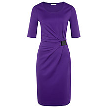 Buy Precis Petite Jersey Dress, Purple Online at johnlewis.com
