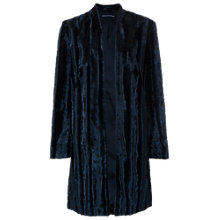 Buy French Connection Contessa Faux Fur Coat, Utility Blue Online at johnlewis.com