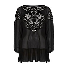 Buy Rise Clara Top, Black Online at johnlewis.com