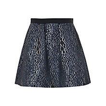 Buy French Connection Sparkle Ray Flared Skirt, Silver/Multi Online at johnlewis.com