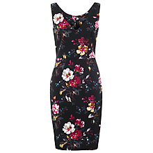 Buy French Connection Gardini Floral Print Dress, Black/Multi Online at johnlewis.com