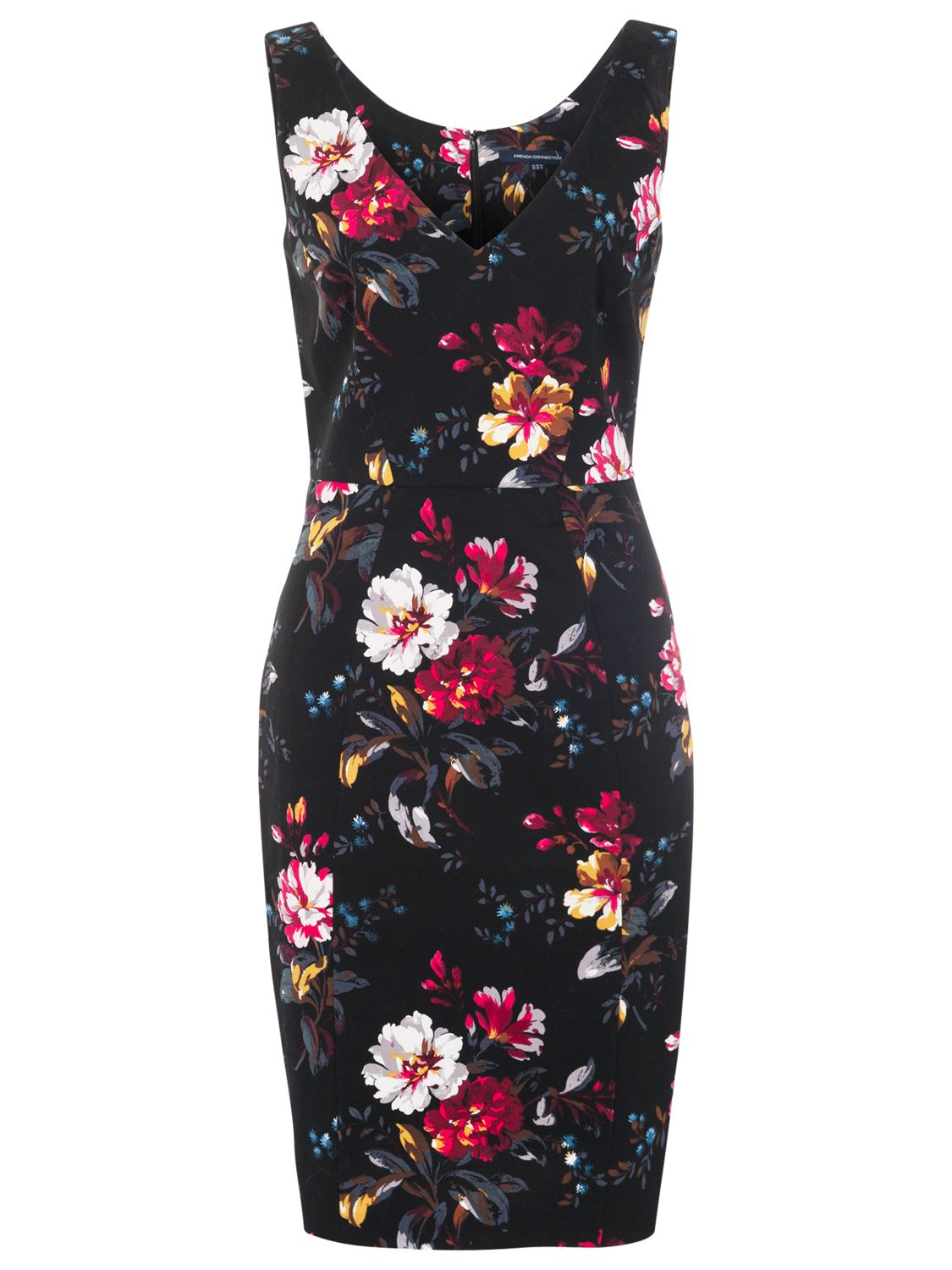 french connection gardini floral print dress black/multi, french, connection, gardini, floral, print, dress, black/multi, french connection, 8|6, clearance, womenswear offers, womens dresses offers, women, womens dresses, special offers, 1745445