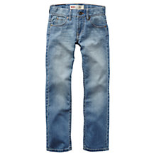 Buy Levi's Boys' 511 Light Wash Slim Fit Jeans, Indigo Online at johnlewis.com