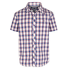 Buy Tommy Hilfiger Boys' Short Sleeve Norris Check Shirt, White/Multi Online at johnlewis.com