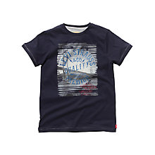 Buy Levi's Boys' Golden Gate Bridge and Logo T-Shirt, Navy Online at johnlewis.com