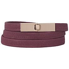 Buy French Connection Scarlet Elasticated Belt, Shiraz Online at johnlewis.com
