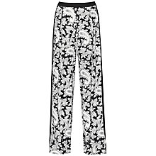 Buy French Connection Paisley Party Trousers, Black/Multi Online at johnlewis.com