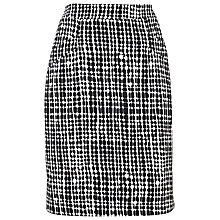 Buy L.K. Bennett Volsie Print Skirt, Black/White Online at johnlewis.com
