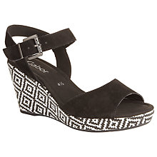 Buy Gabor Challenge Suede Wedges, Black Online at johnlewis.com