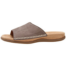 Buy Gabor Open Toe Slip-On Nubuck Mules Online at johnlewis.com