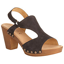 Buy Gabor Anser Nubuck Heeled Sandals, Black Online at johnlewis.com
