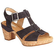 Buy Gabor Sunny Brow Wide Fitting Leather Sandals, Navy Online at johnlewis.com