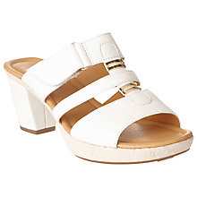Buy Gabor Rainbow Leather Heeled Sandals, White Online at johnlewis.com