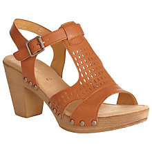 Buy Gabor Kashmir Leather Heeled Sandal Shoes, Tan Online at johnlewis.com
