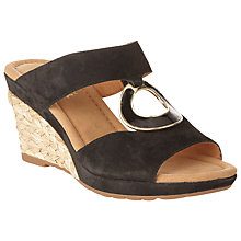 Buy Gabor Sizzle Suede Wedges, Black Online at johnlewis.com