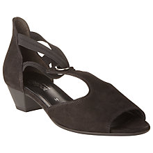 Buy Gabor Passion Extra Wide Fit Nubuck Heeled Sandals Online at johnlewis.com