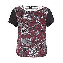Buy Closet Floral Scuba Top, Wine Online at johnlewis.com
