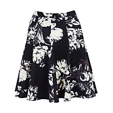 Buy Closet Floral Skirt, Black / White Online at johnlewis.com