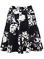 Closet Floral Skirt, Black / White