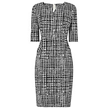 Buy L.K. Bennett Volsie Print Dress, Black/White Online at johnlewis.com