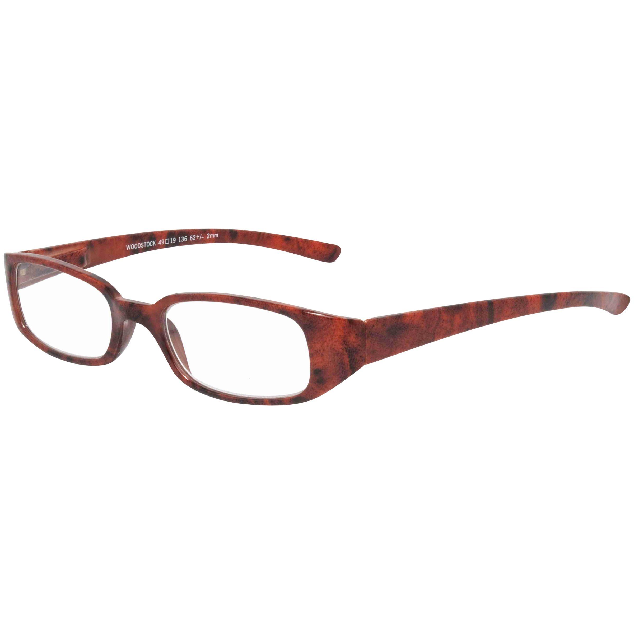Magnif Eyes Magnif Eyes Ready Readers Woodstock Mrytle Glasses, Brown