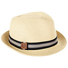 Buy Fred Perry Straw Trilby Hat, Natural Online at johnlewis.com
