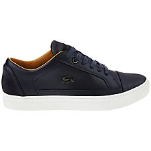 Buy Lacoste Bowery Leather Trainers, Dark Blue Online at johnlewis.com