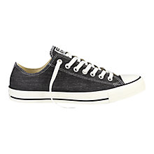 Buy Converse Chuck Taylor Denim All Star Ox Trainers, Black Online at johnlewis.com