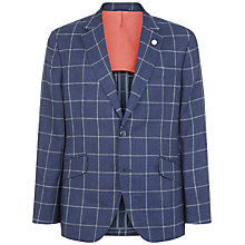 Buy Hackett London Check Wool Blend Blazer, Navy Online at johnlewis.com