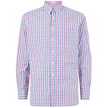 Buy Hackett London Two Colour Oxford Gingham Shirt, Purple/Blue Online at johnlewis.com
