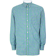 Buy Hackett London Two Colour Oxford Gingham Shirt, Green/Blue Online at johnlewis.com