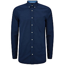 Buy Hackett London Polka Dot Shirt, Navy Online at johnlewis.com