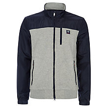 Buy Hackett London Aston Martin Racing Zip-Up Sports Top, Grey/Navy Online at johnlewis.com