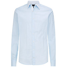Buy Hackett London Fine Stripe Multi Trim Shirt, Sky/White Online at johnlewis.com