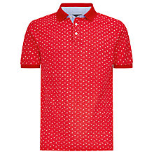 Buy Hackett London Floral Print Polo Shirt, Red Online at johnlewis.com