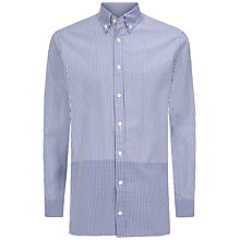 Buy Hackett London Placed Gingham Shirt, Blue/White Online at johnlewis.com