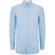 Buy Hackett London Fine Leaf Print Shirt, Blue/White Online at johnlewis.com